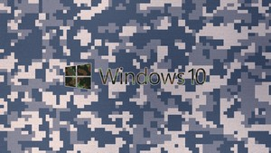 UHD 3840x2160 Windows 10 wallpaper Camouflage UHD Windows 10 logo