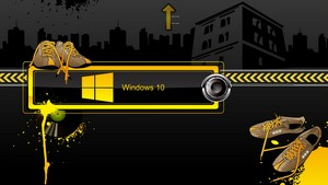 1366x768 Windows 10 wallpaper Industrial Windows 10 logo