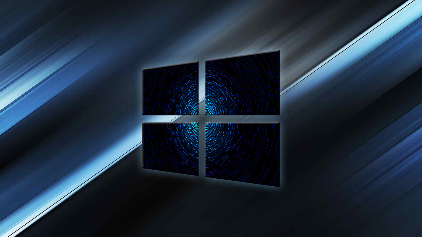 The blue core windows 10 wallpaper windows 10 logo for Window design wallpaper
