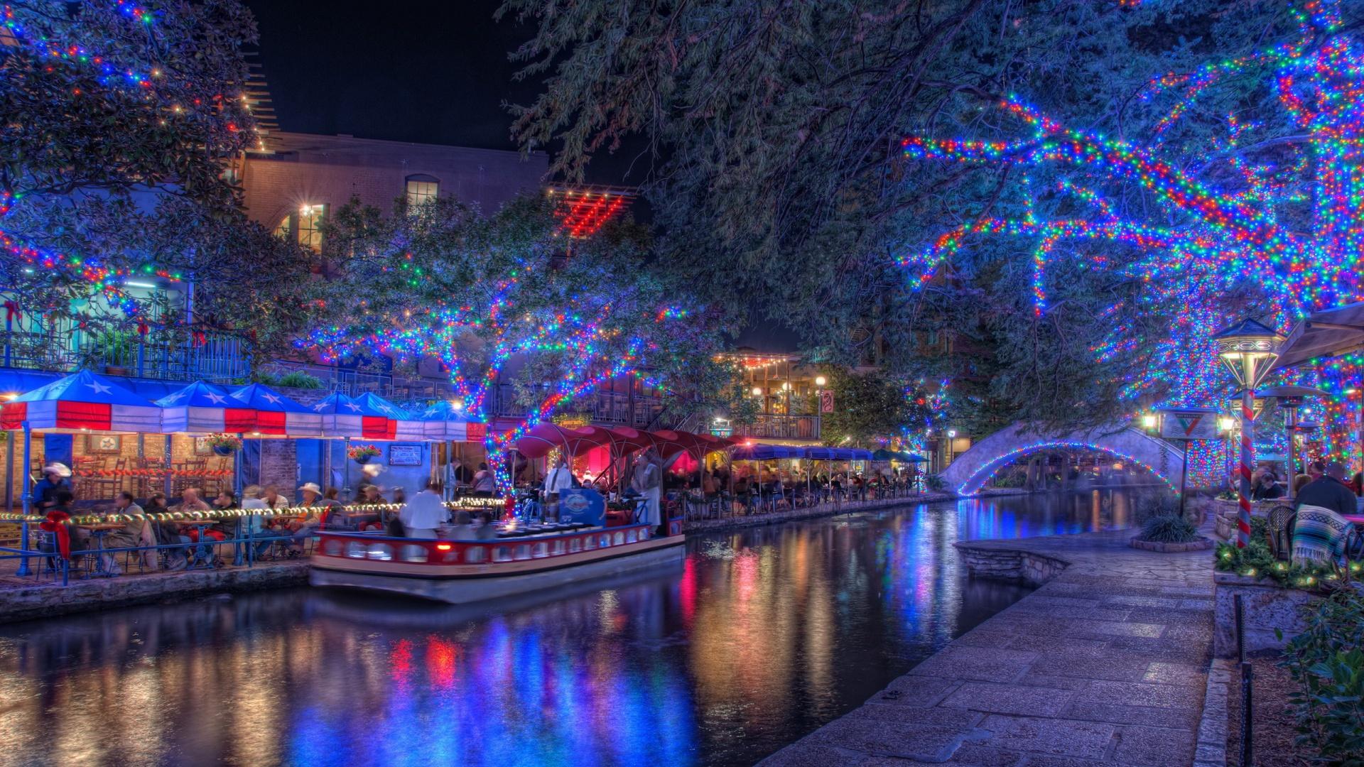 San Antonio Christmas Windows 10 Wallpaper Holidays Hd 1920x1080